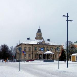 Torget och Rådhusgatan i Jakobstad