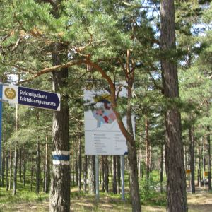 Skylt i Syndalen, Hangö.