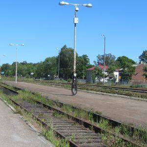 Tågstationen i Hangö.