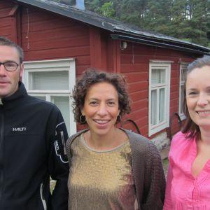 Anton Frankenhaeuser, Paola Dadda och Anna Tengström från Kulturregementet.