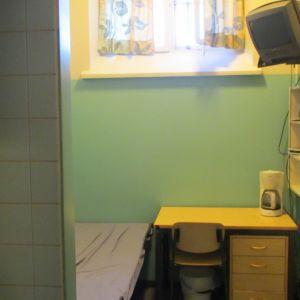 Fängelsecell i Vasa fängelse.