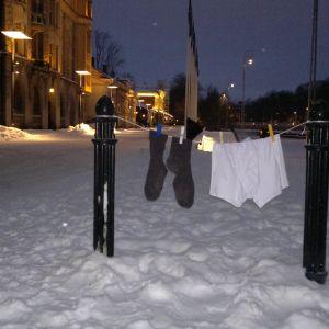 Tvätt på tork i centrum av Åbo
