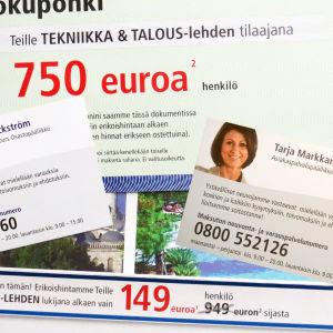 TSS-matkanjärjestäjän mainoksia