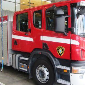 Släckningsbil av den typ som räddningsverket i Östra Nyland ska byta ut