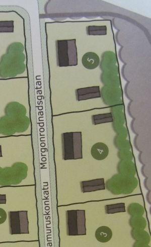 Karta över Gråbergs bostadsområde.
