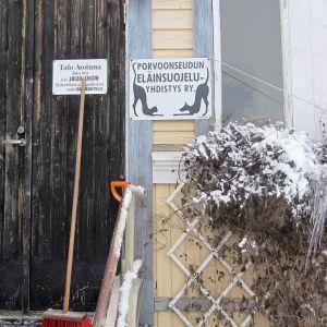 Borgånejdens djurskyddsförenings katthus i Tolkis