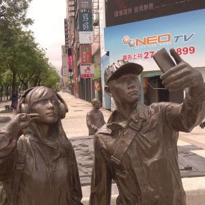 Selfie-staty i Taiwan