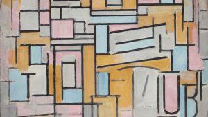 Komposition in Oval mit Farbflächen 2, 1914