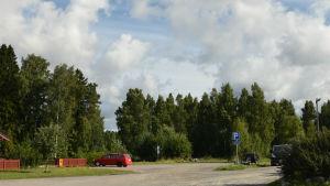 Området i Ingå centrum. Parkering