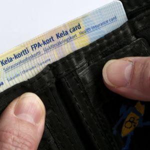 FPA-kort i en plånbok