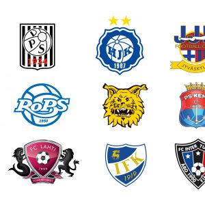 Lagmärken från fotbollsligan 2017.