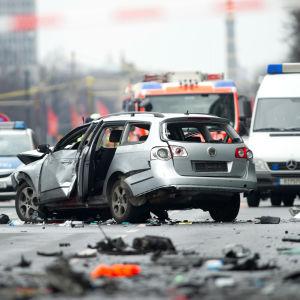 En bil har exploderat i Berlin