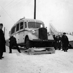 Yleisradion vanha radioauto Salpausselällä Lahdessa n. 1938