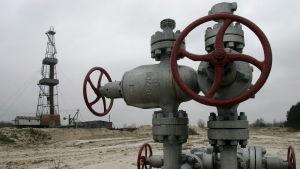 Gasfält nära Poltava i januari 2006 då Ryssland hade stängt gaskranarna