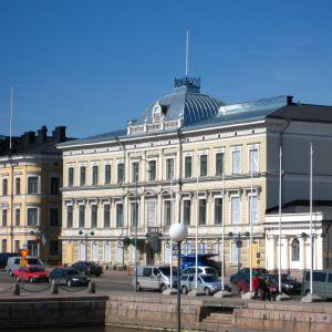 Högsta domstolens byggnad i centrum av Helsingfors.