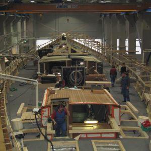Världens största pre-preg kolfiber/komposit segelbåt Panamax under arbete