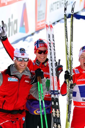 Norge vann herrstafetten i La Clusaz