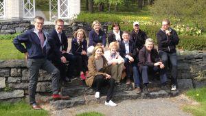 Bild på Yles ledningsgrupp sommaren 2015.