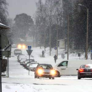 Rikligt snöfall