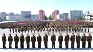 Antiamerikansk parad i Pyongyang, Nordkorea 23.9.2017.