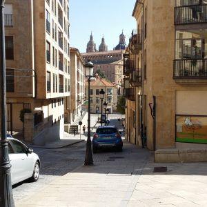 Katunäkymä Salamancasta Espanjasta