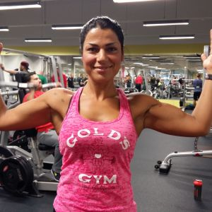 Roya Chatran på sitt gym i Åbo