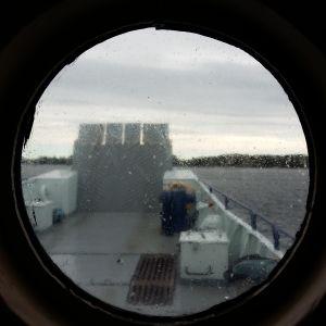 Förbindelsbåten Fiskö i Houtskärs skärgård.