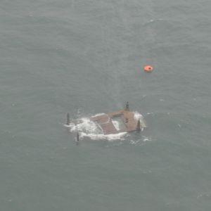 Flygfoto taget av Gränsbevakningsväsendet.