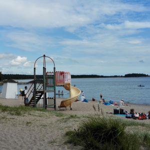 Badstranden Plagen i Hangö.