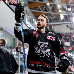 Patrick Bjorkstrand avslutade säsongen med slutspel i tyska Nürnberg.