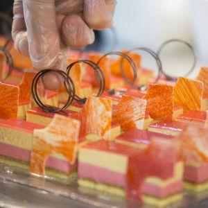 Finska kocklandslaget i  Culinary World Cup 2014; dessert.