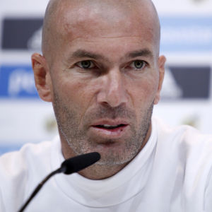 Zinedine Zidane lade ut texten på dagens presskonferens.