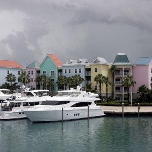 båtar i Bahamas