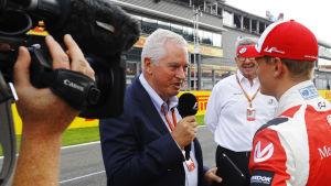 Pat Symonds intervjuar Mick Schumacher.
