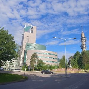 Vy över Stora smedjan och Rundradions link-torn.