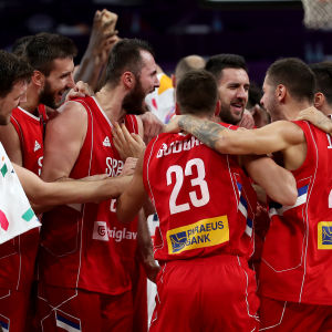 Serbien, basket-EM.