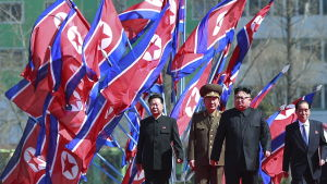 Kim Jong-un i Pyongyang, Nordkorea.