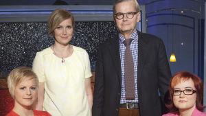 Elina Holstila, Sari Valto (toimittaja) Matti Välimäki ja Nina Saine