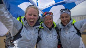 Mikaela Wulff, Silja Kanerva och Silja Lehtinen - OS-brons!