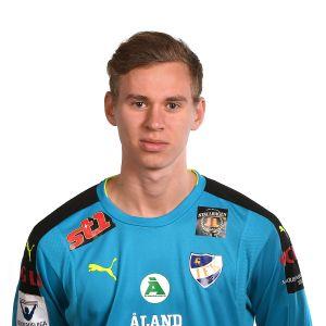 Målvakten Marc Nordqvist representerar IFK Mariehamn,