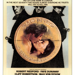 Elokuvan Korppikotkan kolme päivää (Three Days of the Condor) englanninkielinen mainosjuliste, 1975