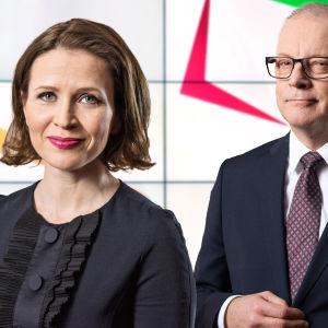 Kuntavaalit 2017 -tulosillan juontavat Johanna Vesikallio ja Matti Rönkä.