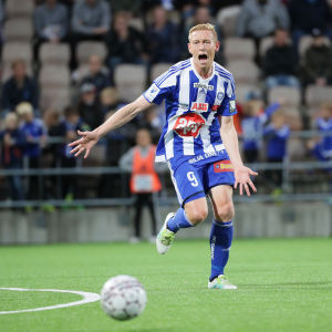 Mikael Forssell spelar, HJK 2016.