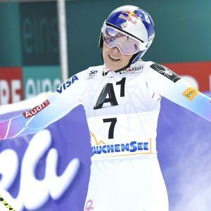 Lindsey Vonn gjorde comeback i Altenmarkt.