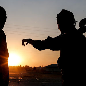 Medlemmar i YPG på vakt i norra Syrien.