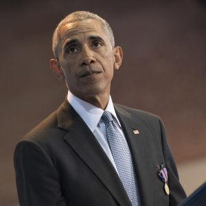 USA:s president Barack Obama i Arlington, Virginia den 4 januari 2017.