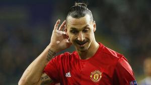 Zlatan Ibrahimovic platsar inte i spelarnas all star-elva.