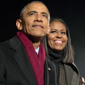Barack och Michelle Obama.