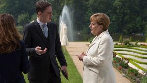 Estlands premiärminister Taavi Rõivas hos Angela Merkel i maj 2016