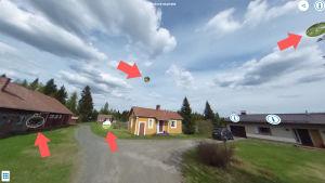 En virtuell bild på Eemilämäksi hembyggdsmuseum